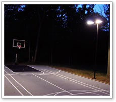 basketball court lighting & Maryland Components Basketball Courts Net Systems Rebounder Fence ...